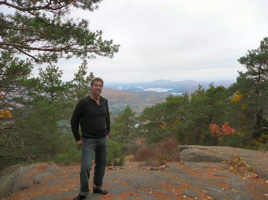Eat 'n Meet Grill and larder : Saranac Lake From Baker Mountain