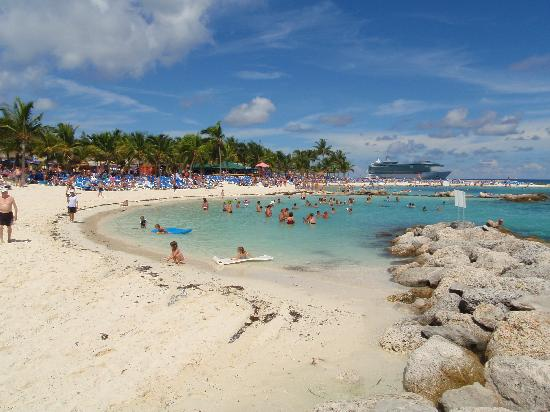 Coco Cay Snorkel Beach With Freedom Of The Seas In Background