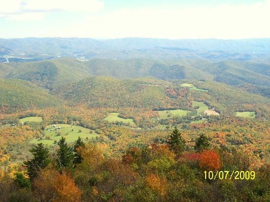 Cass, Virginia Occidental: view at the top of Bald Knob