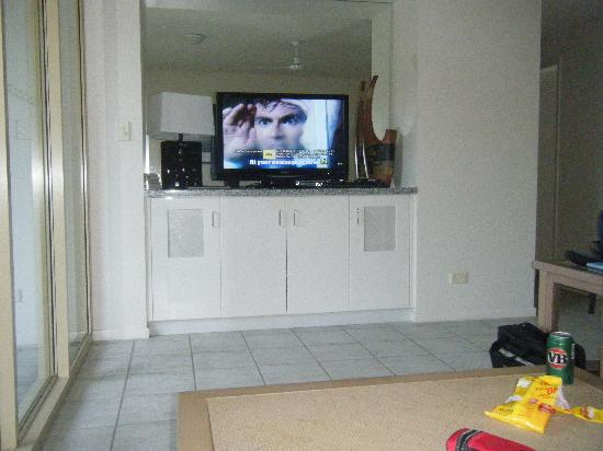 Reflections of Port Douglas: Living area/LCD TV
