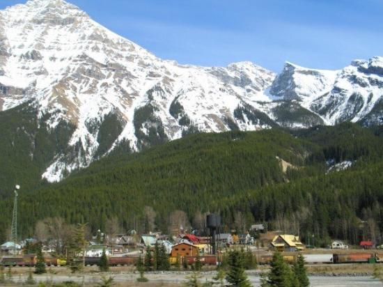 Field, BC.  A small mountain town between Lake Louise, AB & Golden BC where the gas station clos