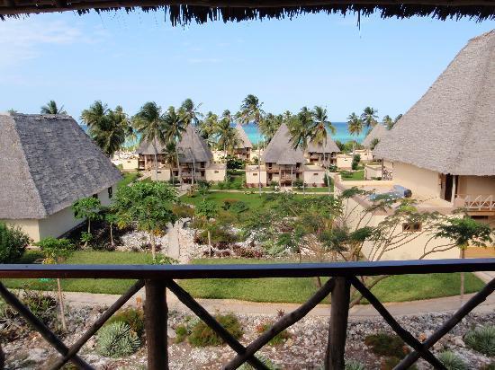 Neptune Pwani Beach Resort & Spa: View from balcony - rear accomodation