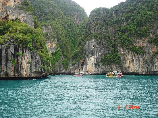 Phuket Town, Thailand: Phi Phi Lay from the Boat