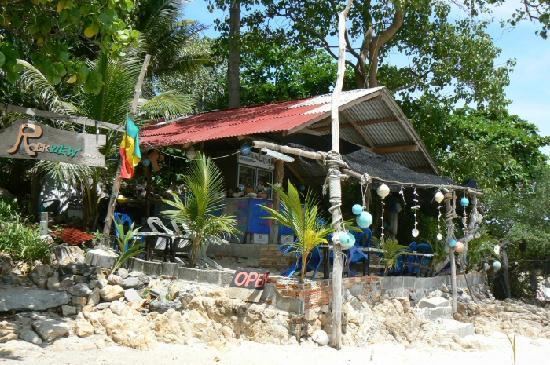 First Bungalow Beach Resort : Private Beach fresh juice and fruit shake hut