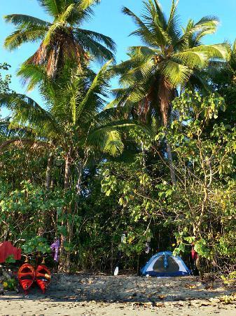 Santa Catalina, Panama: our camp area