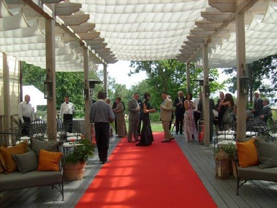 Chateau Mcely : Deck for wedding