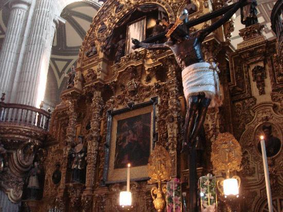 Мехико, Мексика: Cathedral. Zocalo