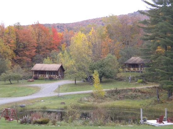 Jeffersonville, VT: Then small pond and some cabins
