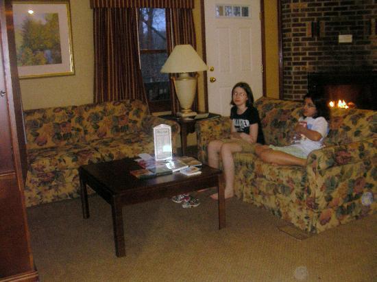 Split Rock Resort: livingroom/kitchen/halfbath upstairs
