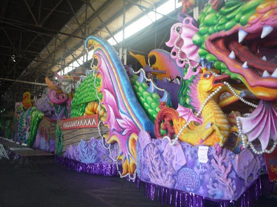 Blaine Kern's Mardi Gras World: You get really close!