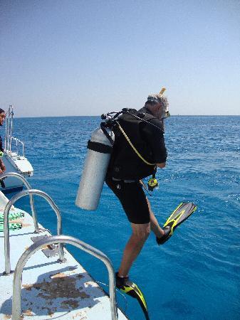 TGI Diving El Gouna: 1st jump into the Red Sea, El Gouna 1 October 2009