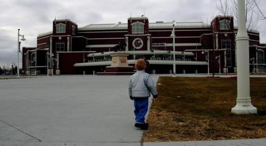 Ralph Engelstad Arena: Aspirations. Casey at UND's Englestad arena, Grand Forks, North Dakota
