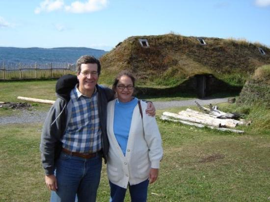 "Cape Onion, Canada: Viking Sod House on the great Northern Peninsula of Newfoundland, Canada at the site known as ""T"