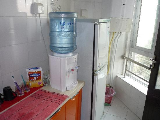 kitchen fridge and water dispenser - Picture of Xian ...