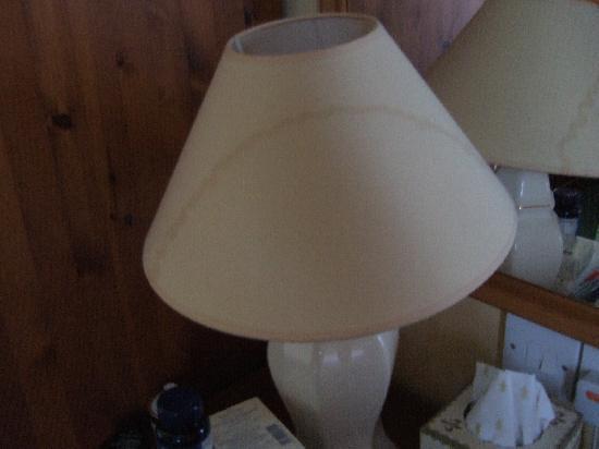 Lostwithiel Hotel Golf & Country Club: Dirty lampshade