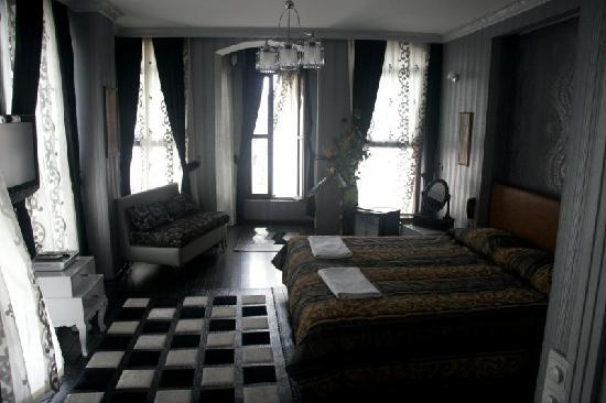 Hotel Sultansaray : Next room down, spacious with a big bay window overlooking the street