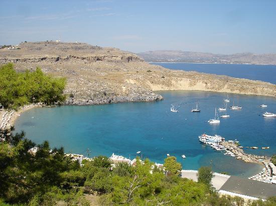 Capsis Hotel Rhodes : Magnifique plage Lindos