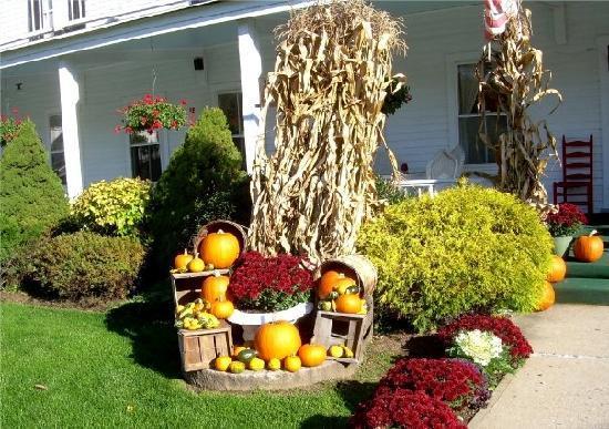 Echo Lake Inn: Pumpkins outside the Inn