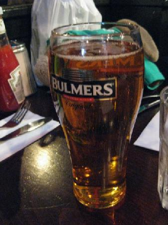 Captain Americas: The saving grace...delicious Bulmers on tap.