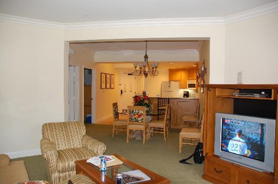 Living Room Dining Room Kitchen Area Picture Of Marriott 39 S Newport Coast Villas Newport Beach