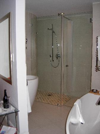Sea Star Lodge: Spacious shower room