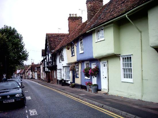 Saffron Walden, UK: Attractive Castle Street