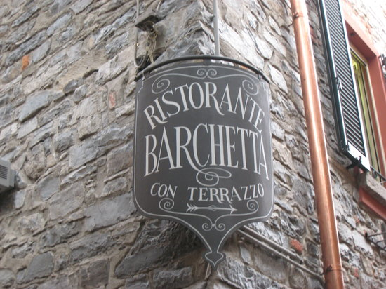 Ristorante Terrazza Barchetta: Their sign on the corner