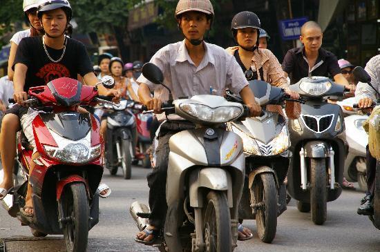 Hanoi Charming Hotel: one of the many bikes in Hanoi
