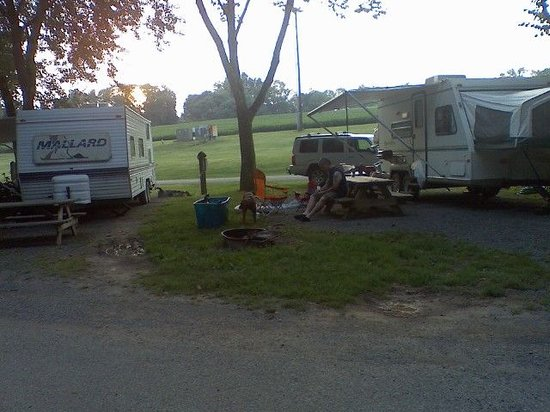 Hummelstown, Пенсильвания: my campsite hershay highmeadow