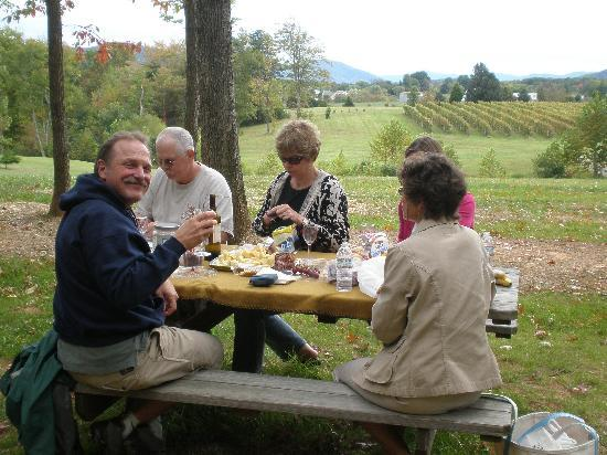 Meander Inn Bed and Breakfast: Lunch in the vineyard