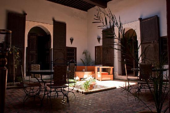 Riad Menthe et Citron: El patio interior