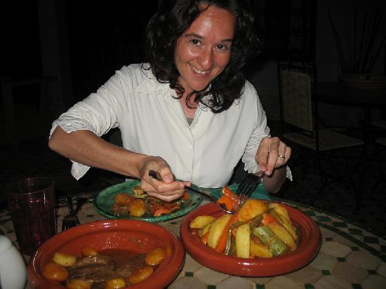 Riad Menthe et Citron: Deliciosa tajine para cenar