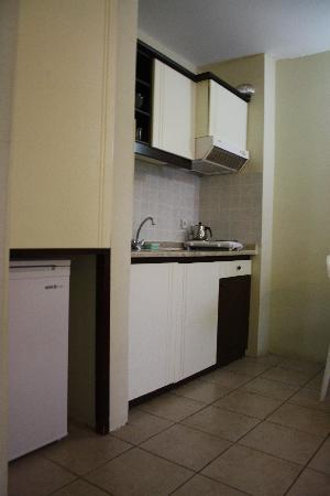 Pasabey Hotel: Kitchen area in apartment