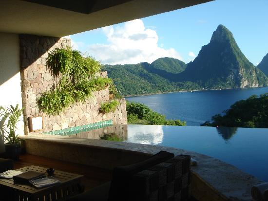 Jade Mountain Resort: one view from the room