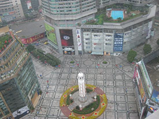 Yu Du Hotel: ホテルの部屋から解放碑を望む