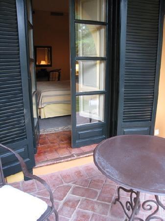 El Bulli Hotel - Hacienda Benazuza: Terrasse de la chambre