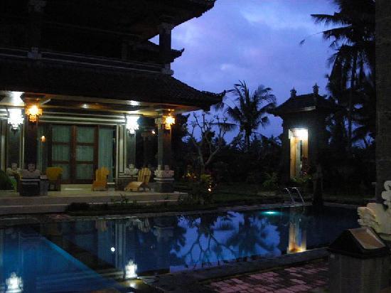 Villa Agung Khalia: Pool at night