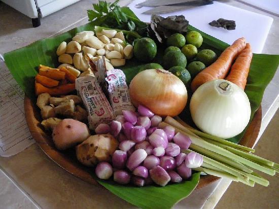Villa Agung Khalia: Food for the cooking class
