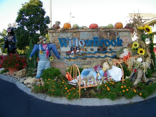 Willow Brook Lodge's Decorative Fall scenery