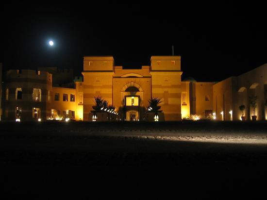 The Palace Port Ghalib: :Palace Hotel entrance by night