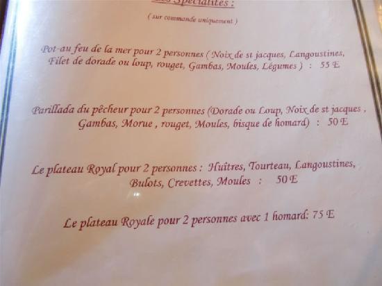 Restaurant La Poterne : Spezialitäten auf Vorbestellung