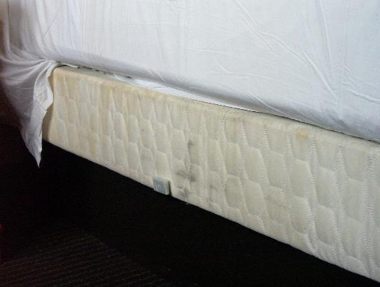 Days Inn Sacramento Downtown: Bed frame with stains