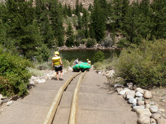 Arizona Rafting by Wilderness Aware: Put in is only a slide away.