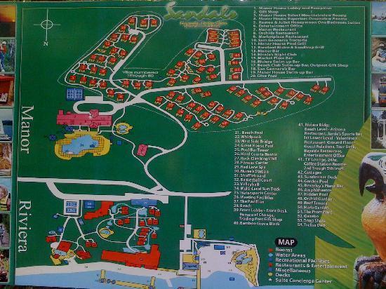 Resort Map - Picture of Sandals Ochi Beach Resort, Ocho ...