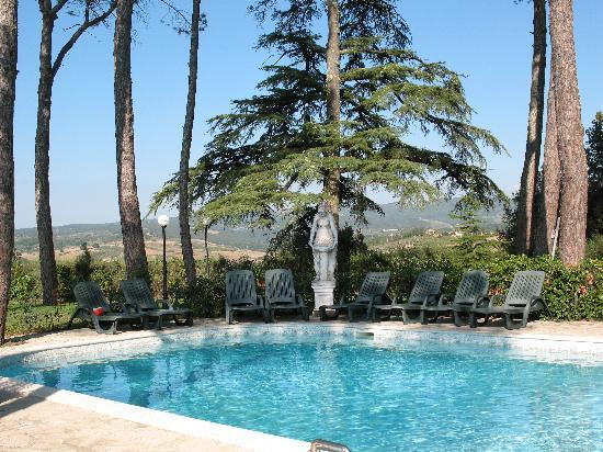 Poggibonsi, Italy: Romantic swimming pool