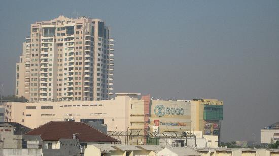 Weta International Hotel: Tunjungan Plaza, the biggest mall in Surabaya, taken from my room at Weta hotel