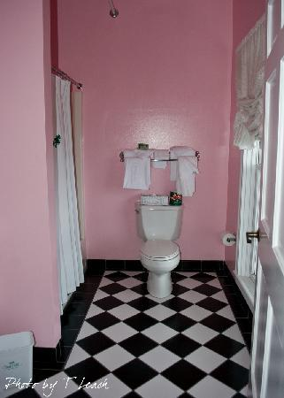 The Charming Pink Bathroom With Black
