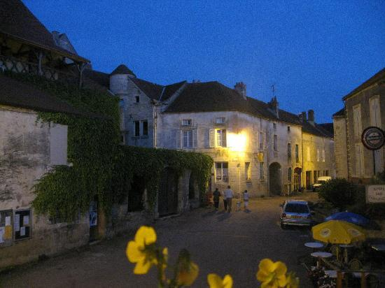 L'Ange Souriant: View from window- at night