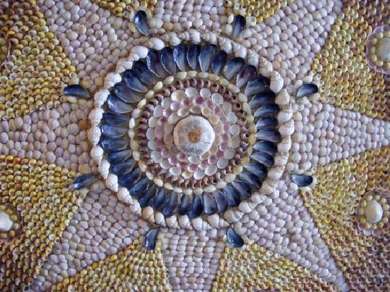 The Shell Grotto : The shells would have been this colour