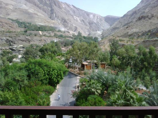Ma'In Hot Springs: View from our room